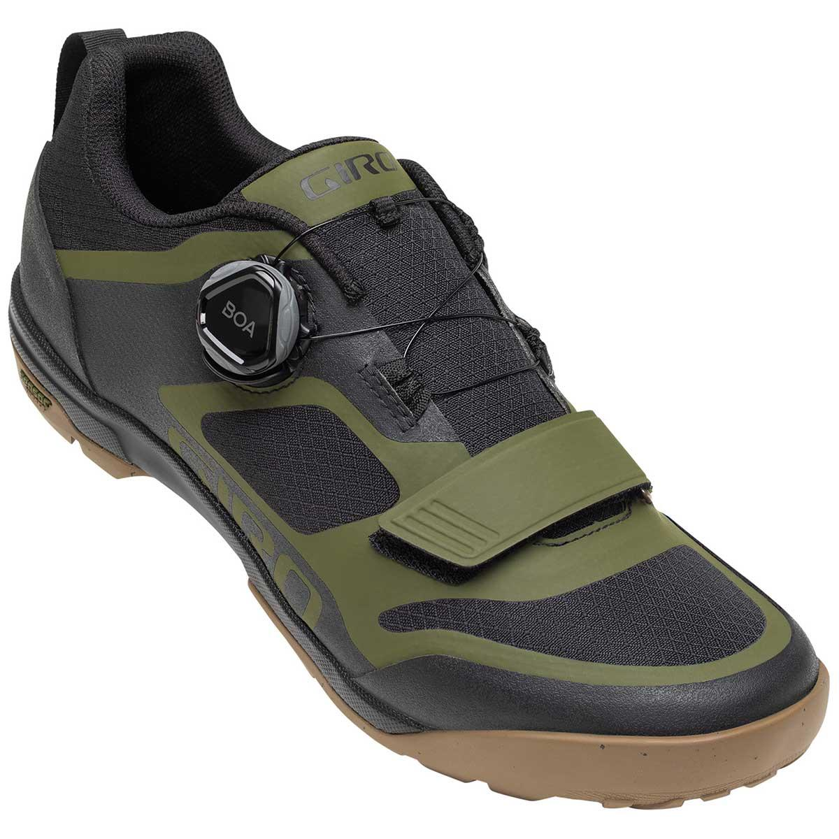Giro Ventana Shoe in Black and Olive main view